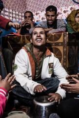 Clase de música en el Centro Castro, en los campamentos de refugiados de guerra saharauis, en Tinduf.