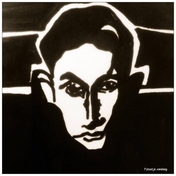 tekening man donker