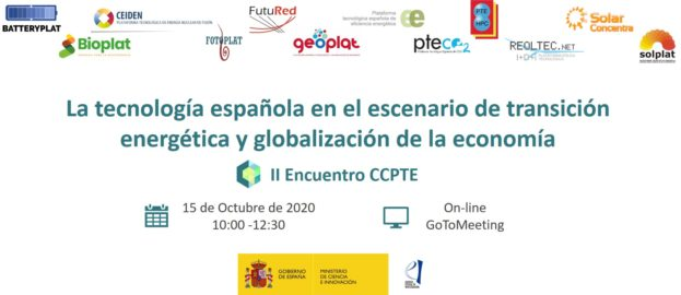 Save the Date II Encuentro CCPTE 15 OCTUBRE 2020