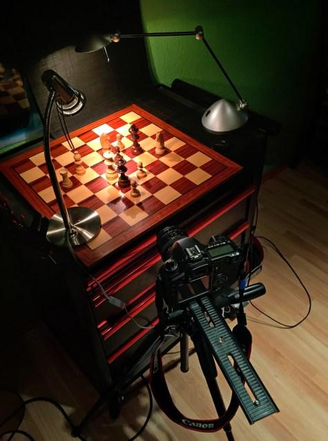 Ein Schachbrett als etwas gemeine Testszene