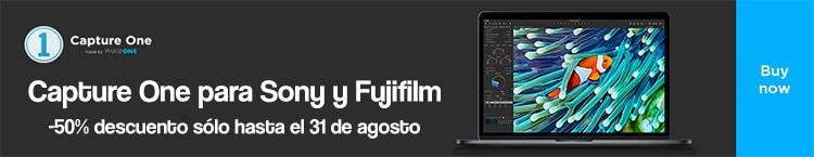 Capture One Fuji y Sony al 50%.