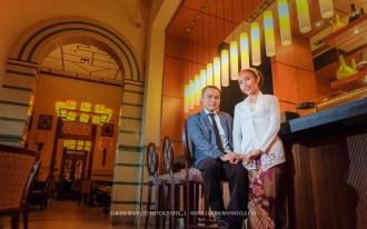 foto prewedding di cafe HOS