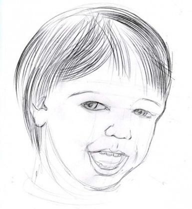 جزئیات عمیق چهره کودک