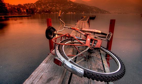Photographie de vélo faite en HDR