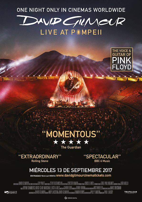 David Gilmour en cines para el 13 de septiembre!!!