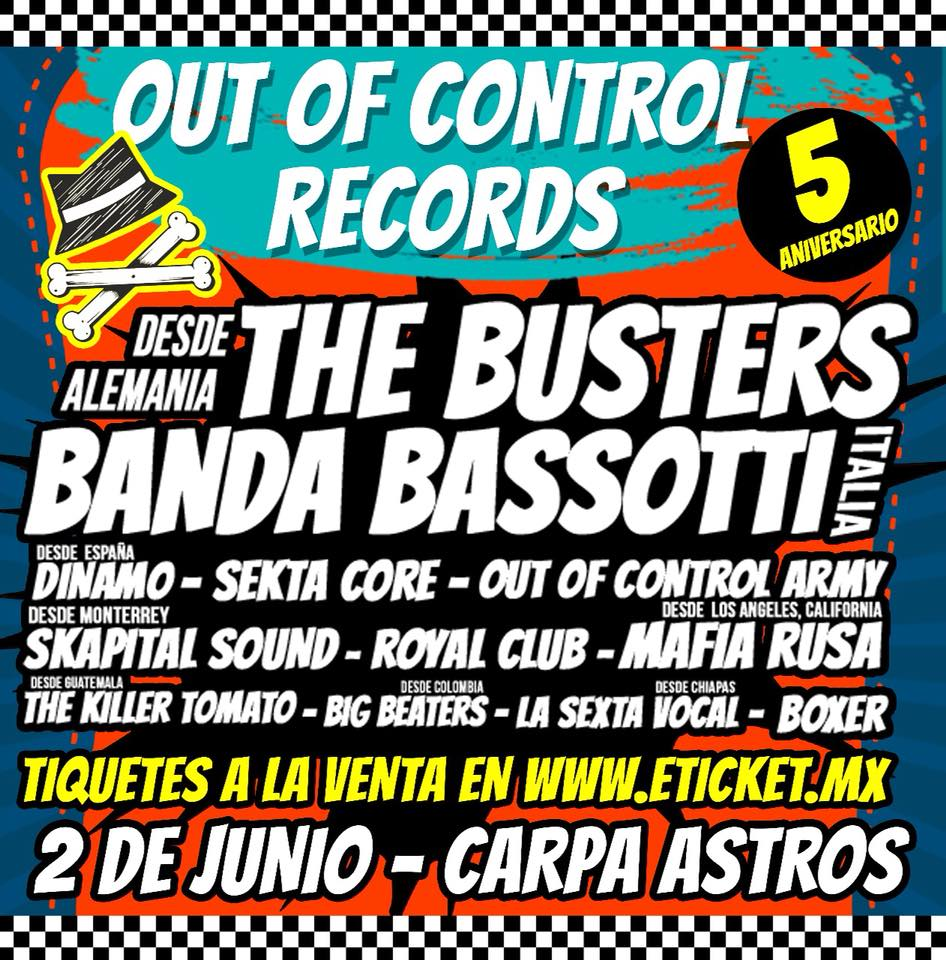 QUINTO ANIVERSARIO DE OUT OF CONTROL RECORDS