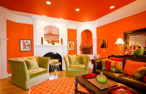 15 Desain Interior Rumah Minimalis Nuansa Jingga