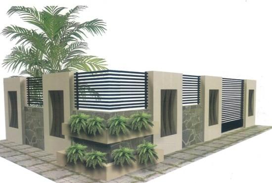 Desain Gapura Pagar Rumah Minimalis