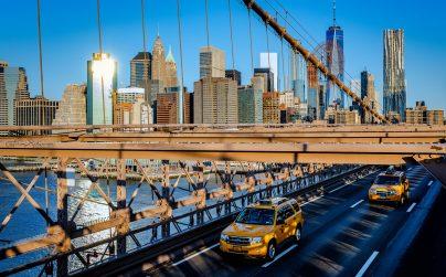 10_NewYork_RL_Sonnenaufgang auf der Brooklyn Bridge