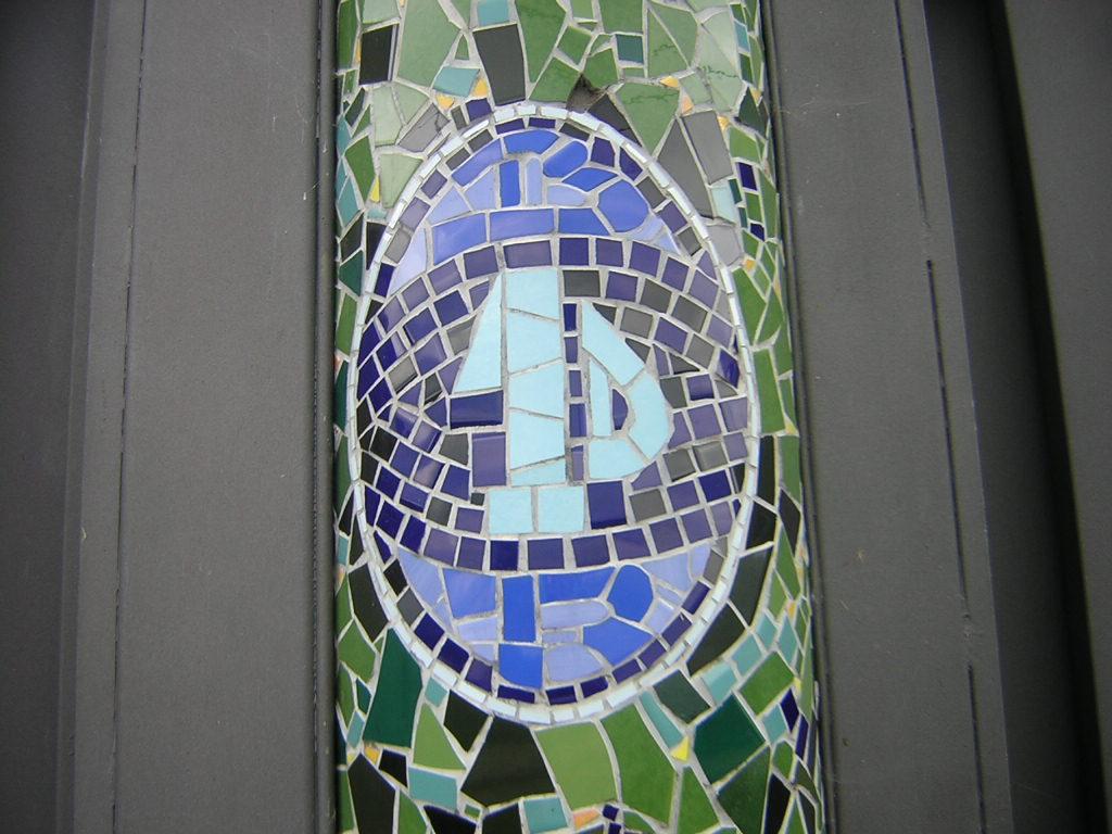 Trencadis Banco de trencads mosaico de azulejos que he hecho