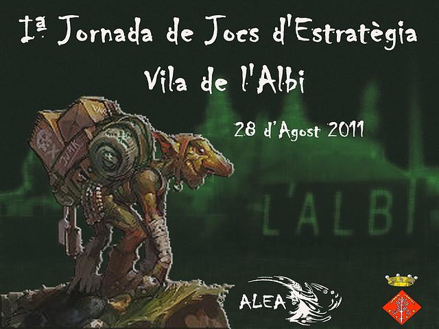 Cartell de l'event I Jornades de Jocs d'Estratègia Vila de L'Albi