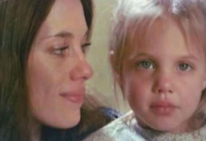 Angelina Jolie and her mom
