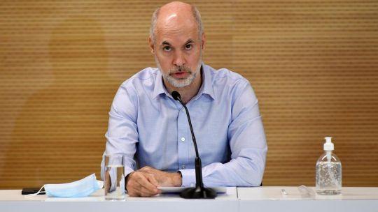 Conferencia de prensa Horacio Rodríguez Larreta 20210416