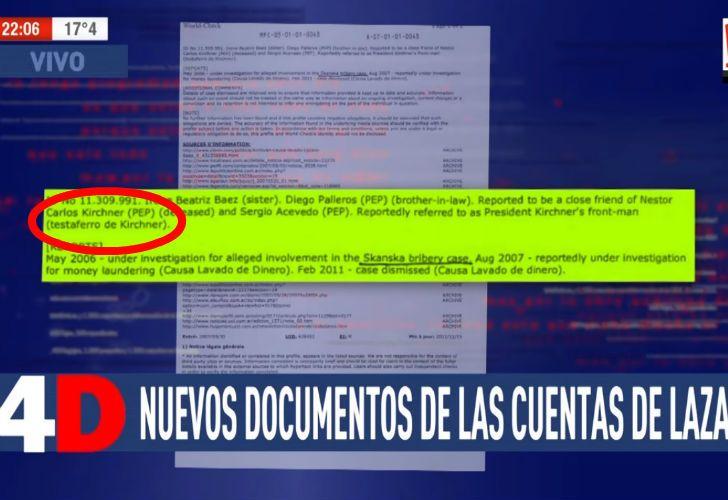 El documento que difundió A24.