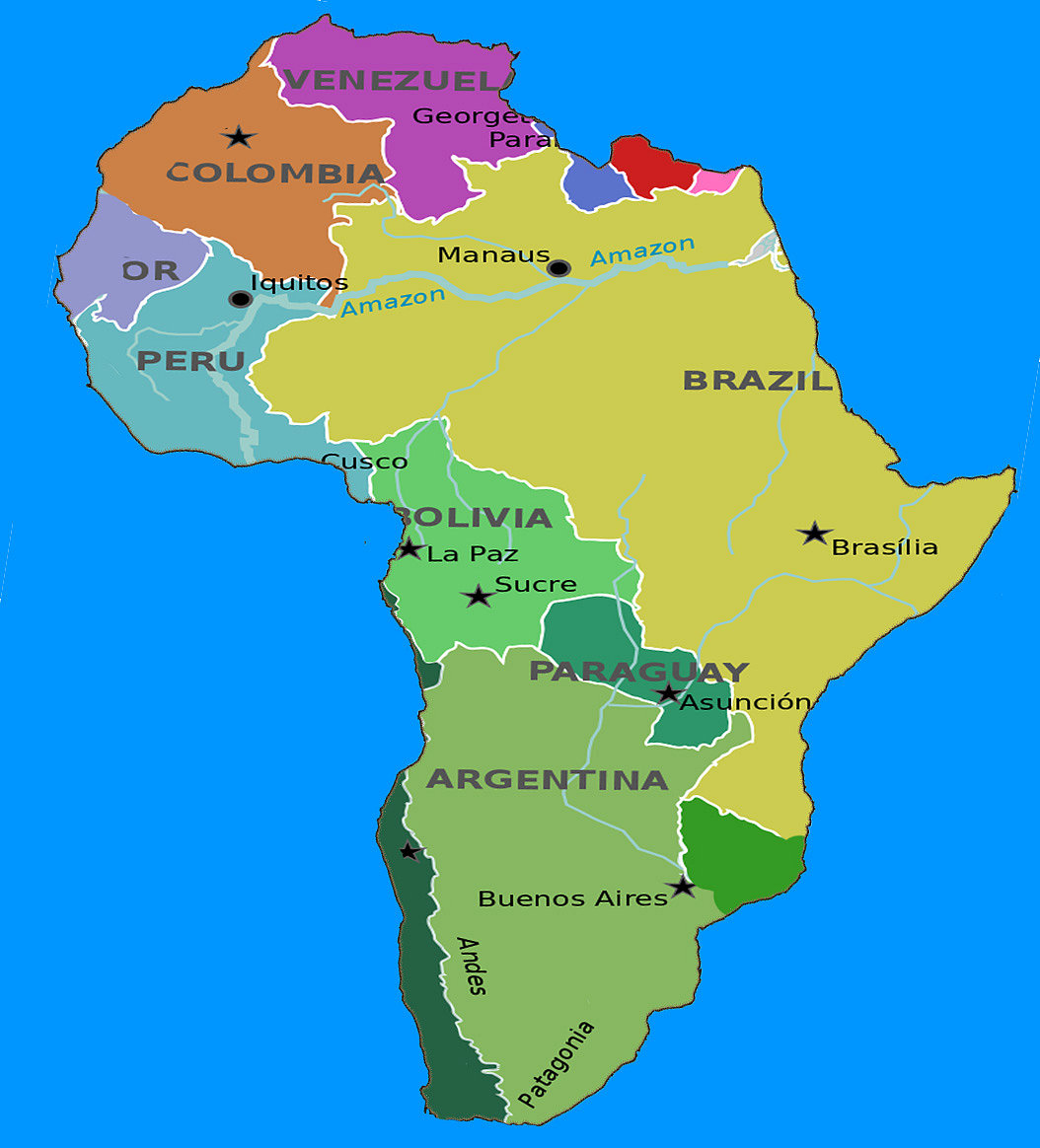 The Real South America Map Country People Developed
