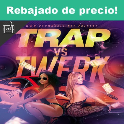 Trap vs Twerk Flyer – PSD Template