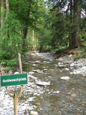 Gemeinde Katzhtte  Goldwaschplatz an der Katze