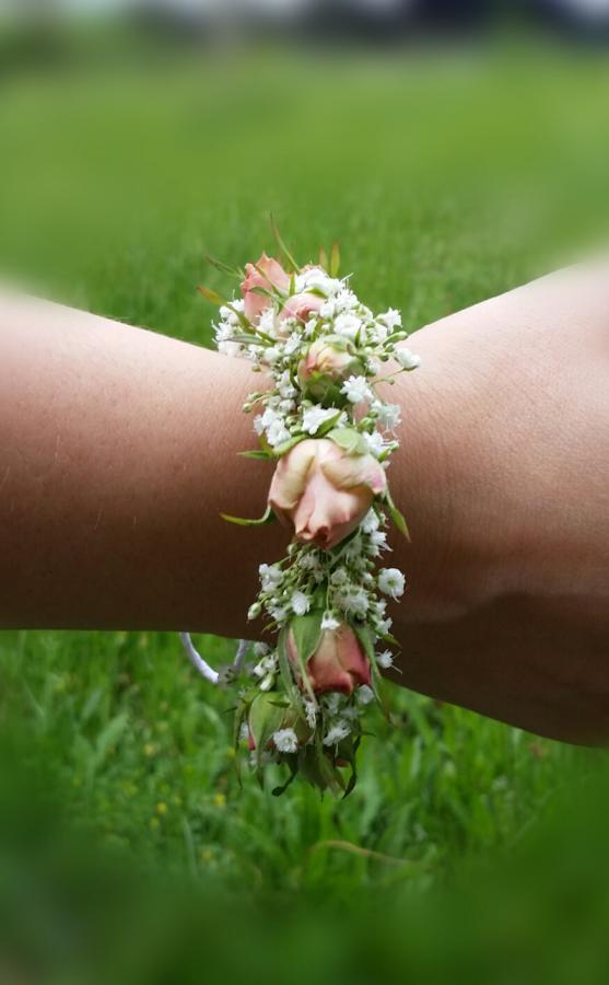 Hochzeit Blumen Armband