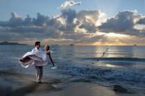 Alba sulla spiaggia