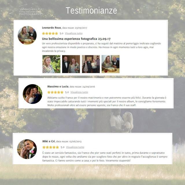 Alcune delle testimonianze di sposi, dopo il matrimonio #fotografodimatrimonio #recensioni