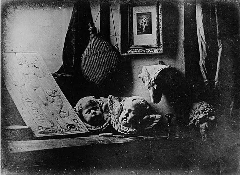 L'Atelier de l'artiste (el taller del artista), Louis Daguerre, 1837
