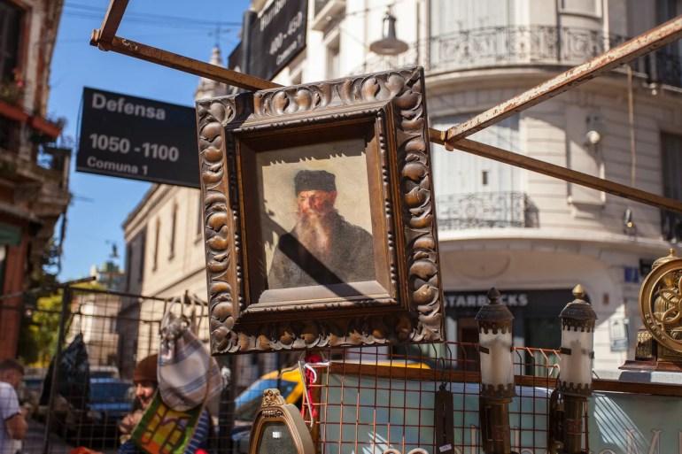 Feria de la Plaza Dorrego en San Telmo