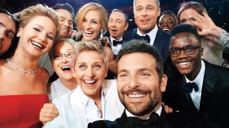 """Selfie de los Oscar"""" (Bradley Cooper, Estados Unidos, 2014)"""