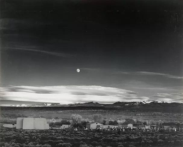 Moonrise, Hernandez, New Mexico. Foto: Ansel Adams