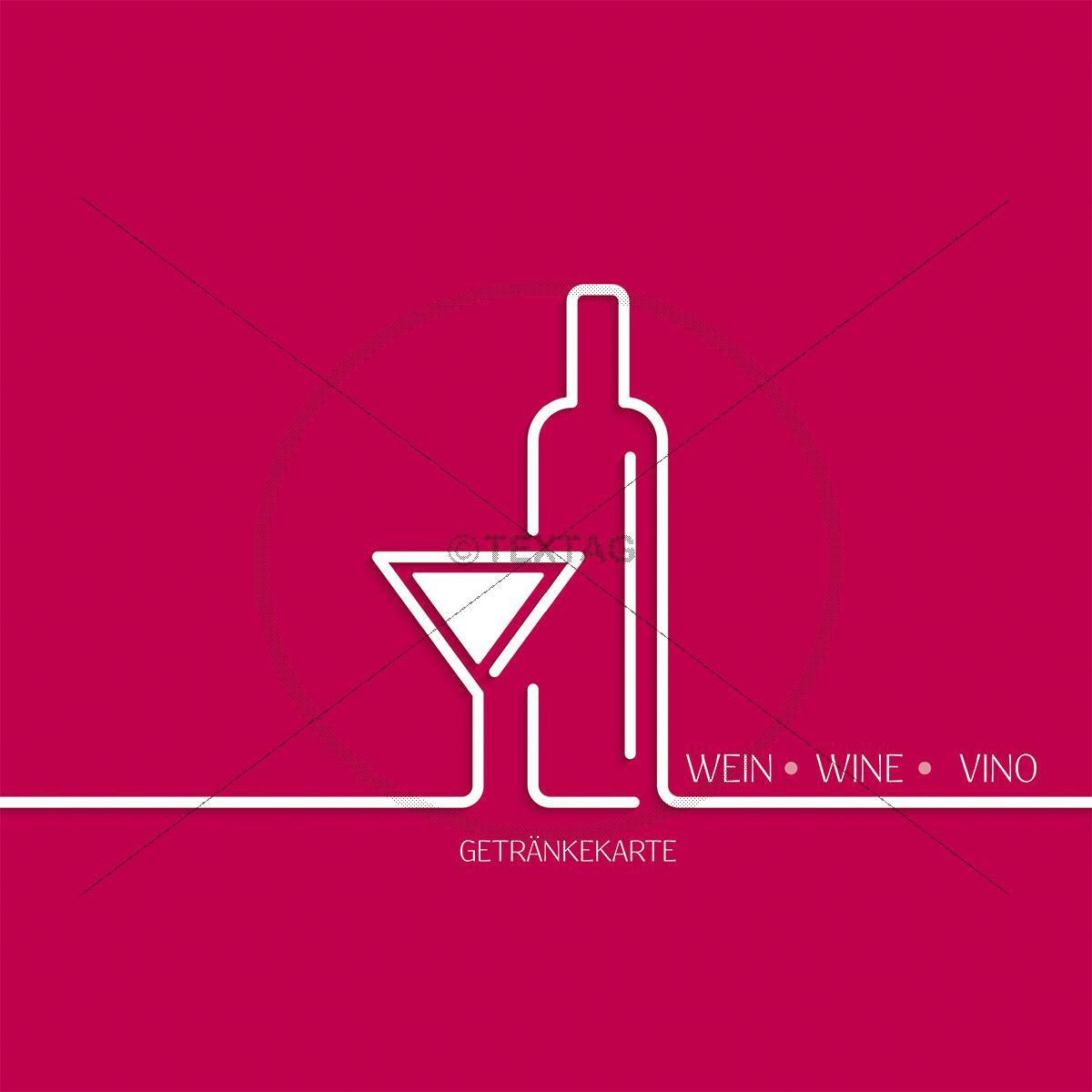 Deckblatt Weinkarte Designvorlage Wein Wine Vino 210