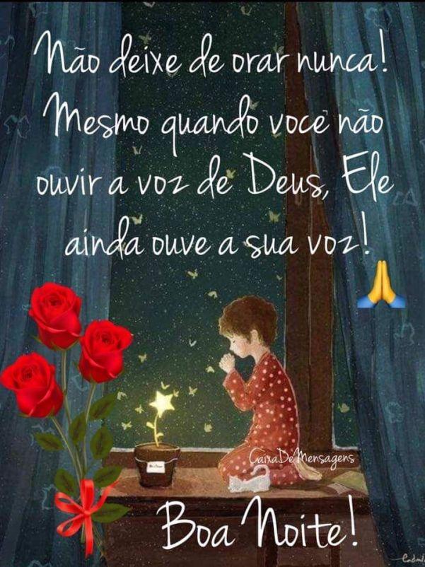 Boa noite, nunca deixe de orar, imagens com mensagens de boa noite