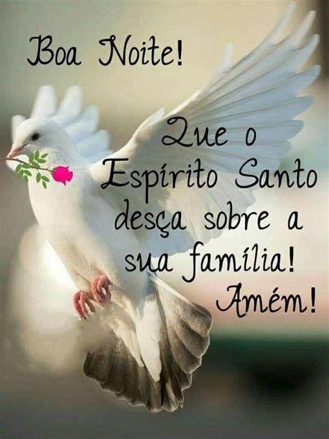boa noite que o Espírito desça sobre sua família
