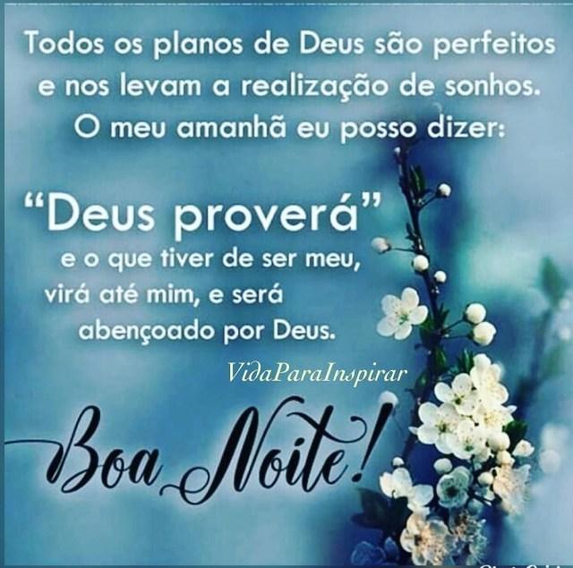 Deus proverá, boa noite!