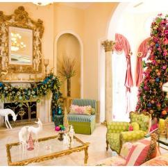 Beautiful Living Rooms At Christmas Couches For Room Decorating Holiday Fotosolution 19