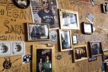 Wall inside the Cafe Area