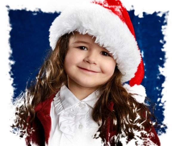 Kinderfotos zu Weihnachten im Fotostudio Wagner Muenchen