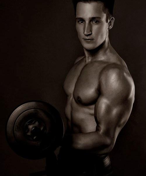 05 Porträt eines Bodybuilders