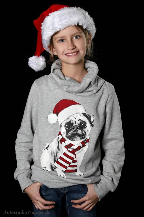 Schöne Kinderfotos zu Weihnachten im Fotostudio Wagner Muenchen