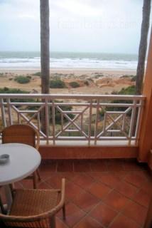 Vistas desde nuestra habitación en el Hotel Barrosa Park en Cádiz