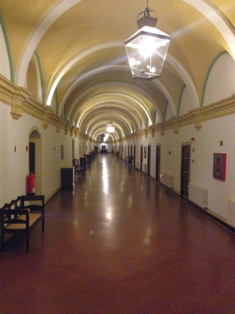 Pasillos del Hotel del Monasterio de Piedra