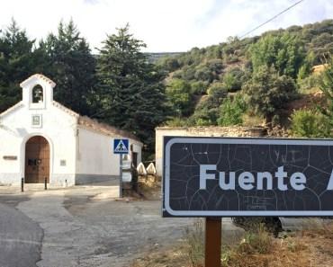Fuente Agria, uno de los manantiales más visitados de la Alpujarra