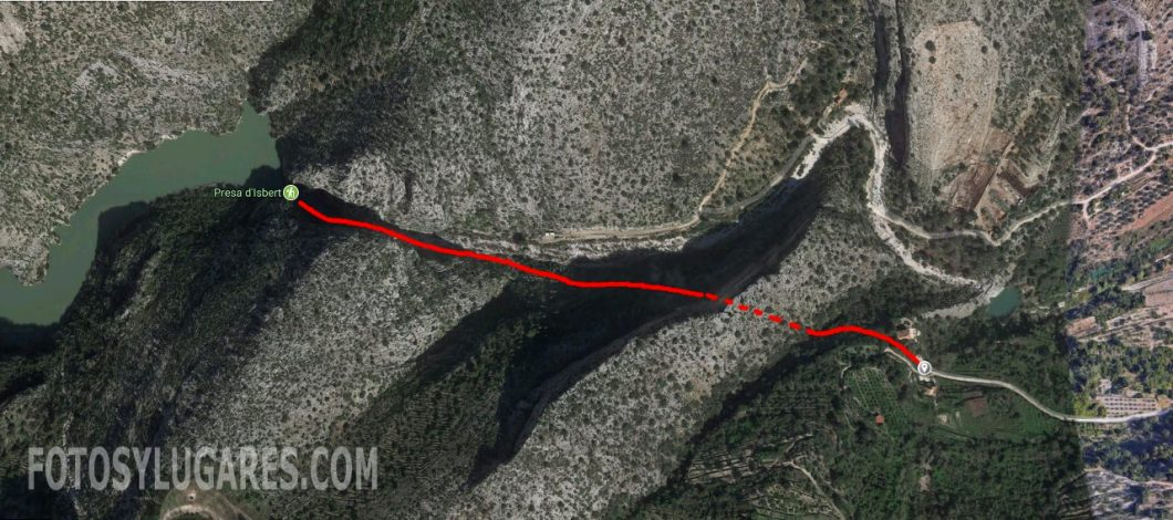 Ruta a la presa de Isbert