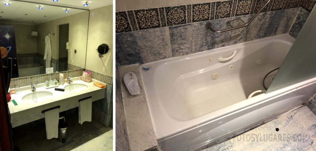 Baño de la habitación del hotel balneario