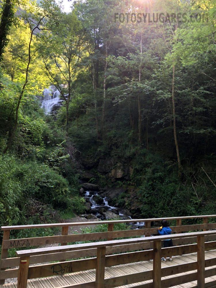Cascada en la ruta a la pasarela de Holtzarte