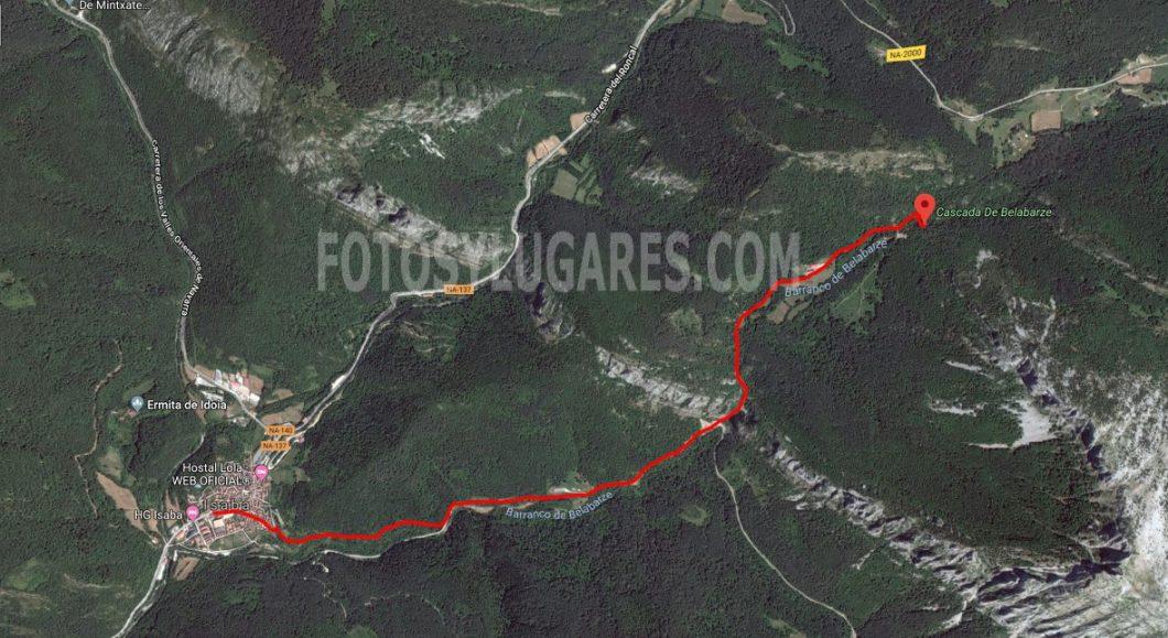 Ruta cascada Belabarce desde Isaba