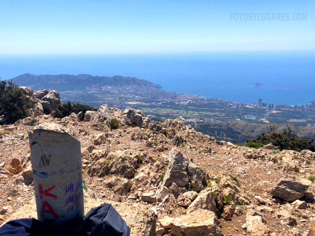 Vistas desde la cima del Puig Campana