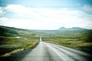 Blick auf die einzige Autobahn Islands