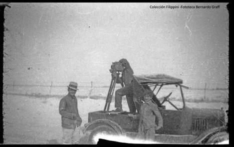 Los Filippini filmaron y fotografiaron la caída de ceniza volcánica de 1932.
