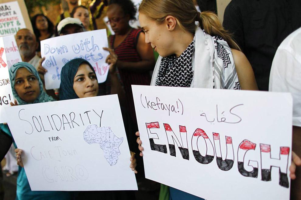 Демонстрации против Хосни Мубарака во всем мире