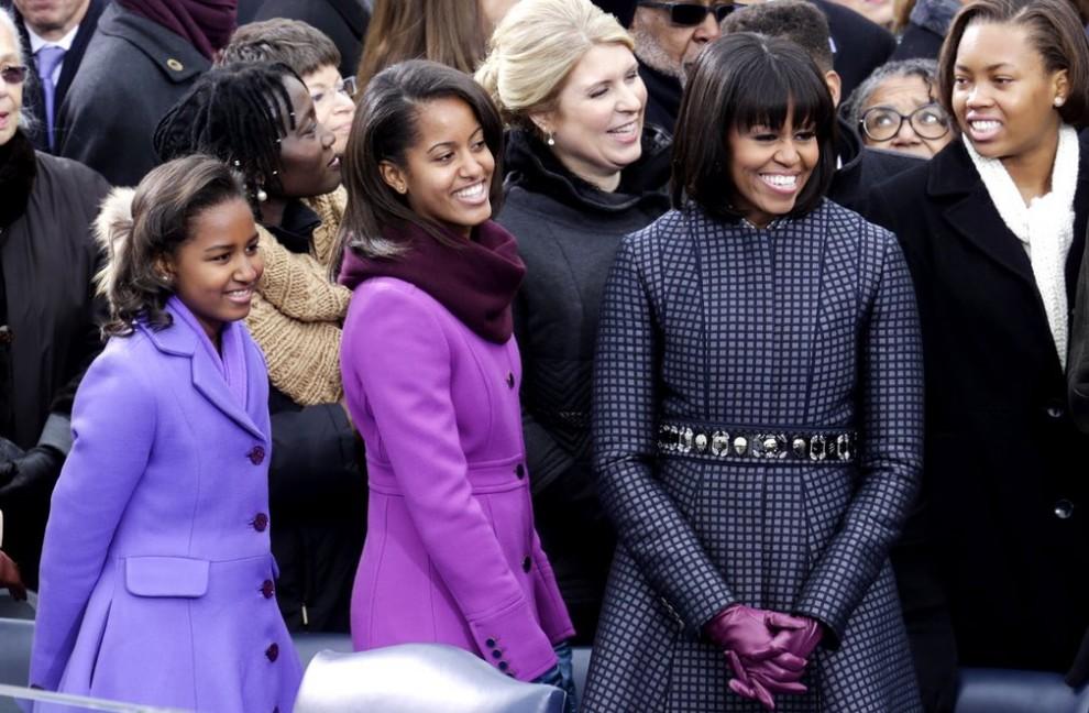 Мишель, Саша (слева) и Малия Обама