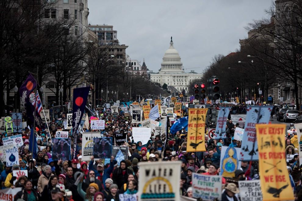 Акция протеста Native Nations Rise
